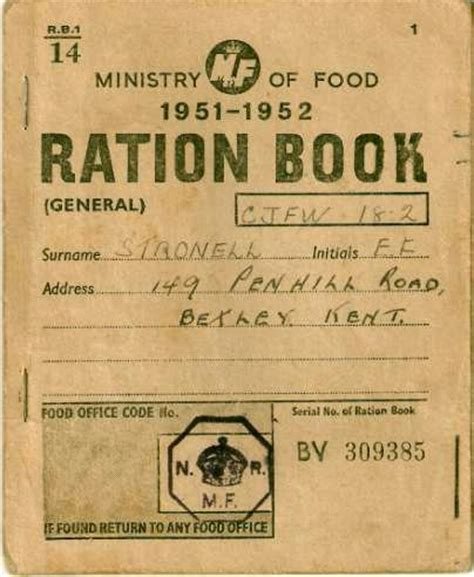 pictures of ration books the 219th festival of frugality the ration book edition