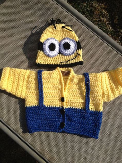 minion jumper knitting pattern baby minion sweater and hat set your choice awesome