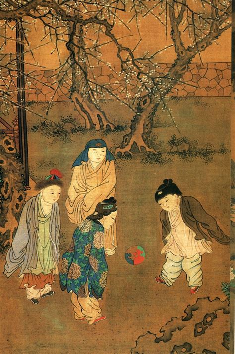 china painting show soccer in ancient times and
