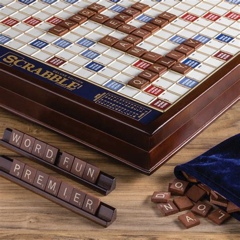 scrabble deluxe wooden edition ws company scrabble deluxe edition