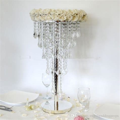 table chandeliers centerpieces best selling acrylic table top chandelier centerpieces