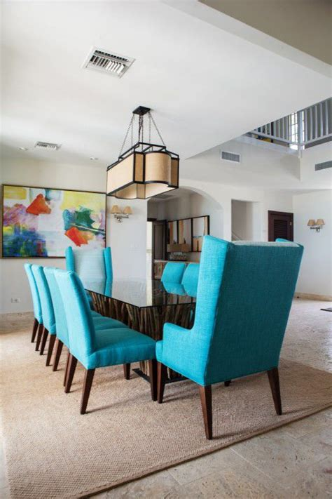 turquoise dining room chairs striking island home dining room with table with driftwood