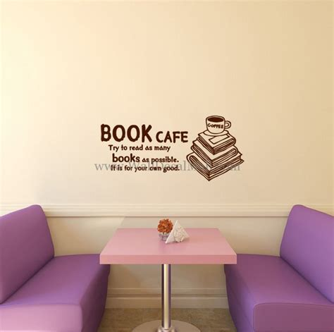Stickers On Your Wall book cafe it is for your own good wall decals