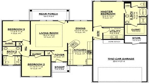 1500 sq foot house plans 1100 square 1500 square 3 bedroom house plan