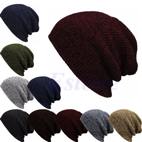how to knit a slouchy beanie winter casual cotton knit hats for baggy beanie