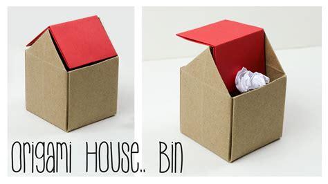 origami garbage bin origami trash bin tutorial diy paper kawaii