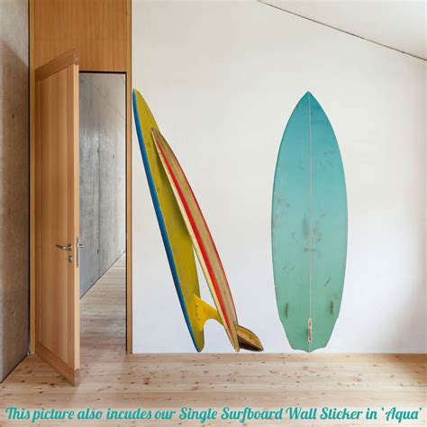 surf wall stickers surfboard corner wall sticker by oakdene designs