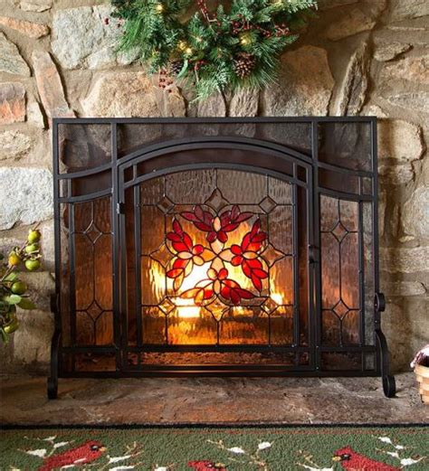 fireplace screen with glass doors 10 best fireplace screens for winter 2017 decorative