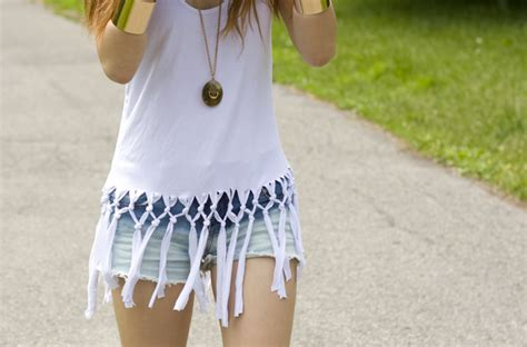 how to make a fringed shirt with diy fringe shirt and apparel juxtapost