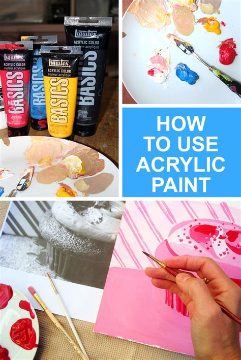 tips on using acrylic paint on canvas how to use acrylic paint beginner s manual for the medium