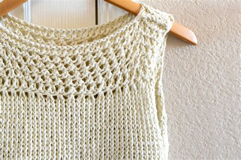 summer knitting ideas summer vacation knit top pattern in a stitch