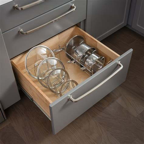Pots Amp Pans Drawer Lid Organizer All Cabinet Parts