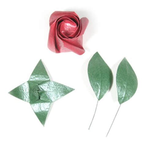 flower stem origami how to make an origami wire stem page 1