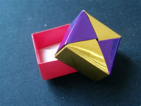 how to make origami gift box with lid origami square gift box allfreepapercrafts