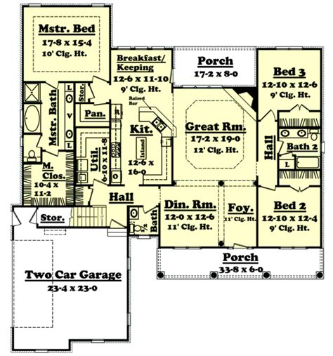 house plans 2400 square country style house plan 3 beds 2 5 baths 2400 sq ft