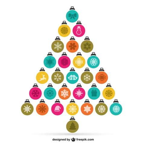 bolas arbol de navidad 193 rbol de navidad hecho con bolas descargar vectores gratis