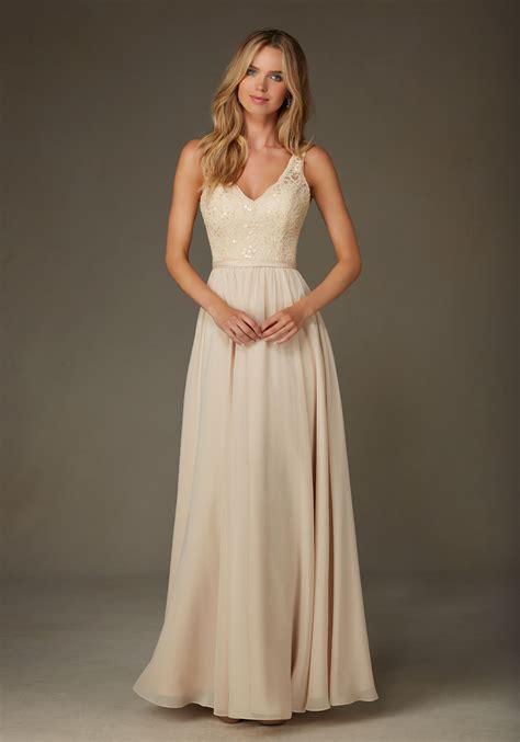 beaded chiffon bridesmaid dresses beaded lace with chiffon bridesmaid dress style