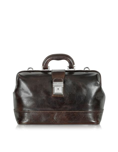 leather doctor bags for chiarugi medium brown leather doctor bag in brown for