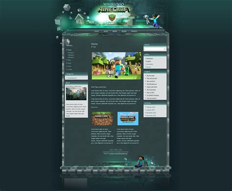 craft websites for minecraft html template