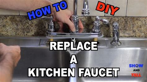 how to change kitchen sink how to replace a kitchen sink faucet master of