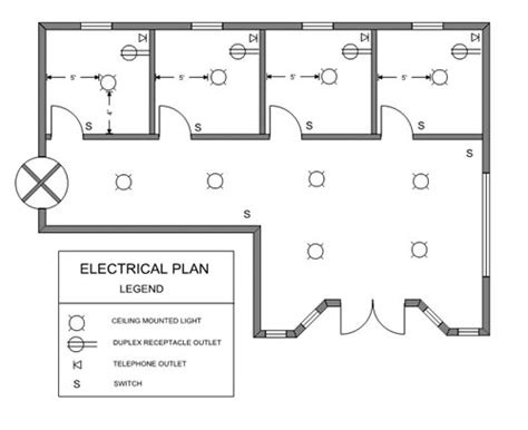 floor plan with electrical symbols ezblueprint