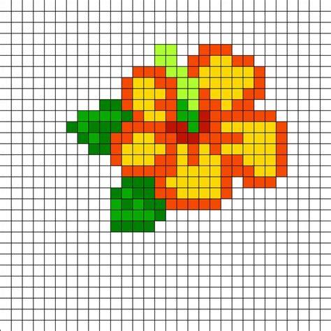 perler bead design hibiscus perler bead pattern bead sprites simple fuse