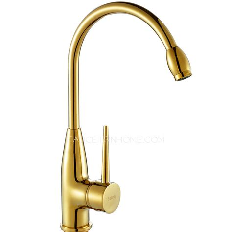 gold kitchen faucet gold kitchen faucet aliexpress buy solid brass