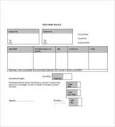 blank proforma invoice hardhost info