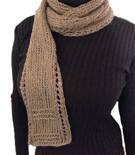 beginner lace scarf knitting pattern unisex easy beginner lace border scarf free knitting