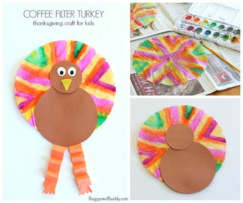 turkey craft projects easy thanksgiving crafts for coffee filter turkey