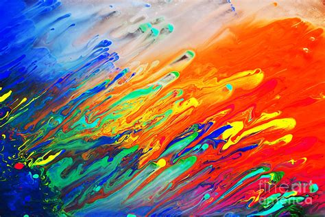 acrylic painting means colorful abstract acrylic painting photograph by michal