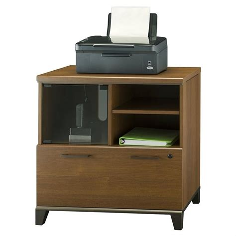 1 drawer lateral file cabinet bush achieve 1 drawer lateral file cabinet in warm oak