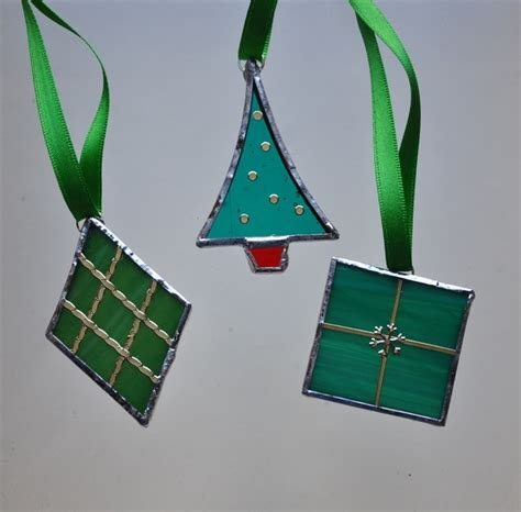 stained glass decorations stained glass boxed green decorations folksy