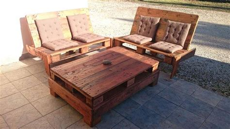 sofa table made from pallets patio furniture set made from pallets