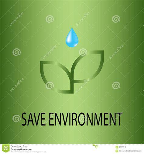 theme save earth ecology save environment stock illustration image 61879946