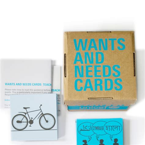 card needs wants and needs cards unicef uk