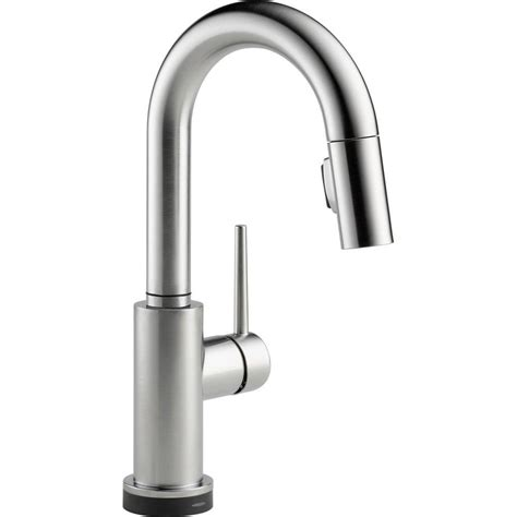 kitchen faucet one delta brushed nickel pull kitchen faucet