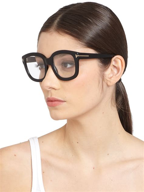 What Is Tom Ford by Lyst Tom Ford Oversized Acetate Eye Glasses In Black
