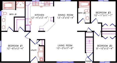 oblong house plans simple one story open floor plan rectangular