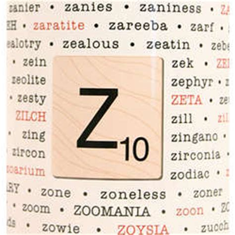 scrabble words containing z scrabble words with z
