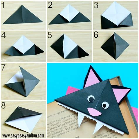 bookmark origami cat corner bookmarks origami for easy