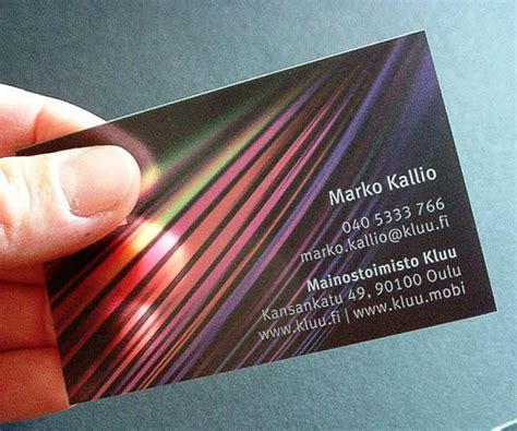 make a business card 35 impressive exles of transparent and waterproof