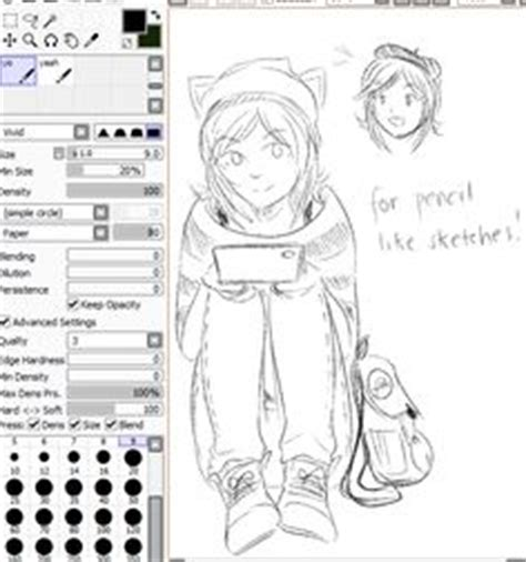 paint tool sai huion 1000 images about paint tool sai brush settings on
