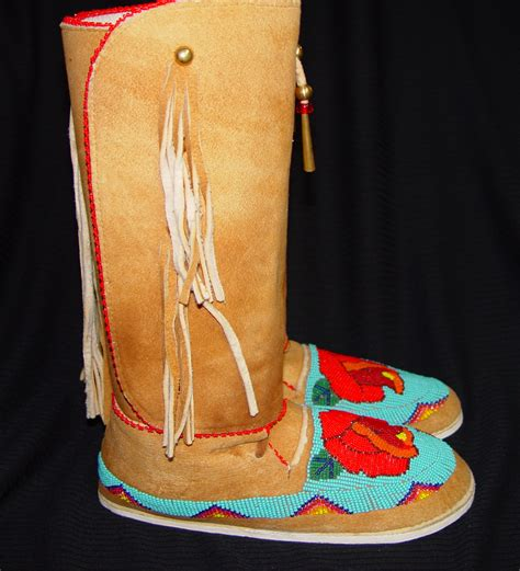 beaded moccasins and beaded moccasins 1b