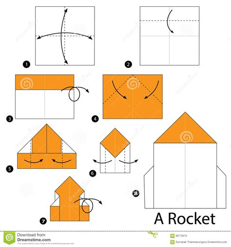 how to make origami rocket step by step how to make origami a rocket