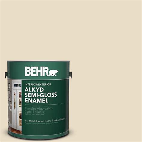 home depot paint navajo white behr 1 gal ae 260 navajo white semi gloss alkyd interior