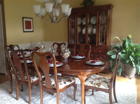 Thomasville Dining Room updating 1980s queen anne dining table hutch and buffet