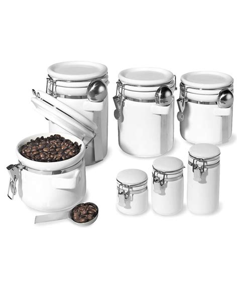 storage canisters kitchen oggi food storage containers 7 set ceramic canisters new ebay