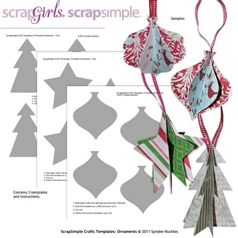 crafts templates scrapsimple craft templates ornaments