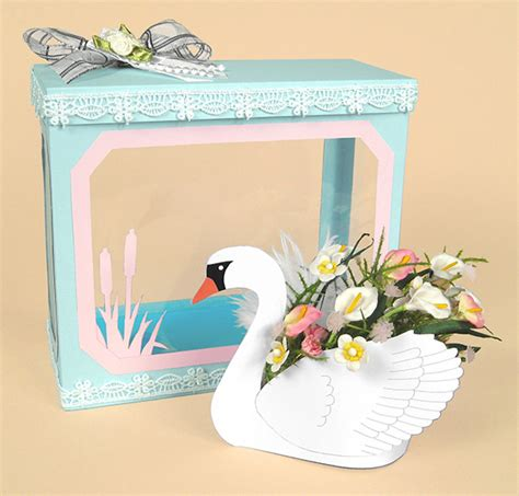 3d cards to make a4 card templates beautiful 3d swan display box